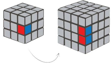 4x4 Rubik's Cube Edge Block