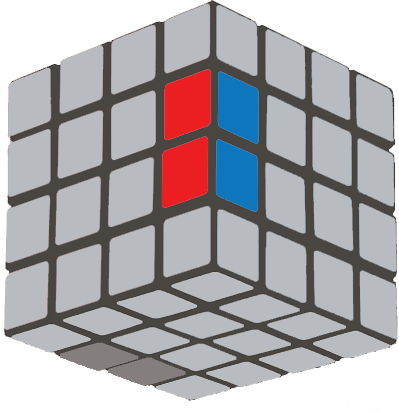 How to Solve a 4×4 Rubik's Cube  - edge switch down