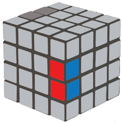 How to Solve a 4×4 Rubik's Cube  - edge switch up