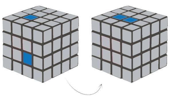4x4 Rubik's Cube Row