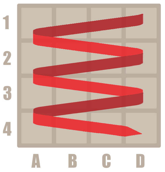 How to play 2048 - 4 by 4 grid strategy direction