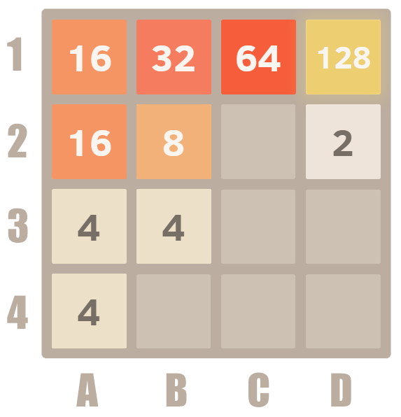 How to play 2048 - Example