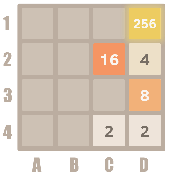 How to play 2048  - merge 256